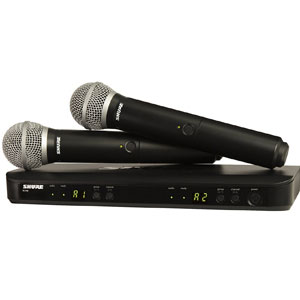 Shure BLX288/PG58 Wireless Vocal Microphones
